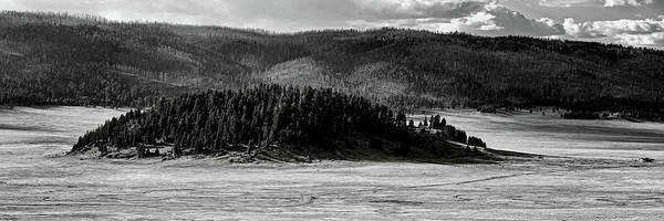Photograph - Monochrome Panorama Of Cerro La Jara In Valles Caldera National Preserve Sandoval County New Mexico by Silvio Ligutti