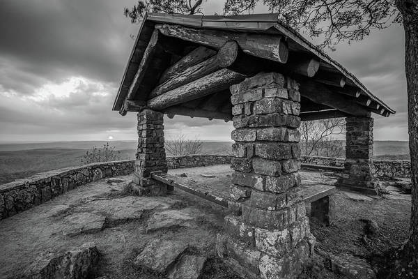 Photograph - Monochrome Sunset At White Rock Mountain National Recreation Area Scenic Overlook by Gregory Ballos