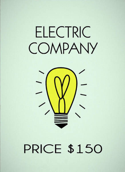 Mixed Media - Monopoly Electric Company by Dan Sproul