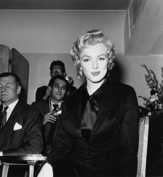 Photograph - Monroe At The Savoy by Harry Kerr