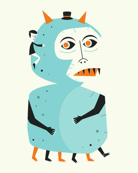 For Digital Art - Monster 2 by Jazzberry Blue