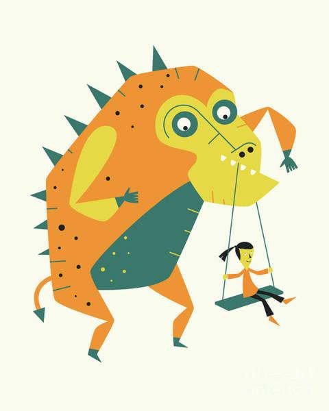 Monsters Digital Art - Monster 4 by Jazzberry Blue