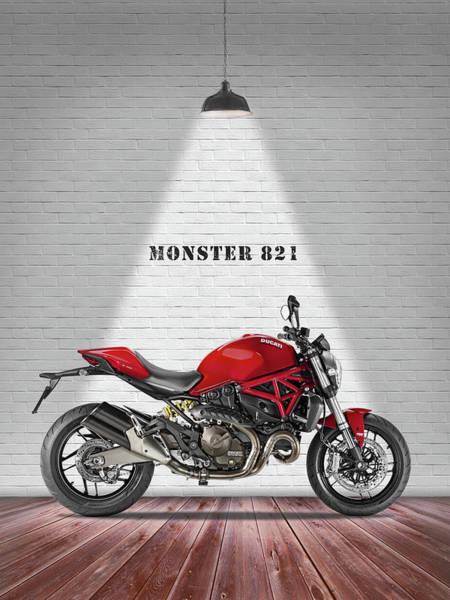 Ducati Bike Photograph - Monster 821 by Mark Rogan
