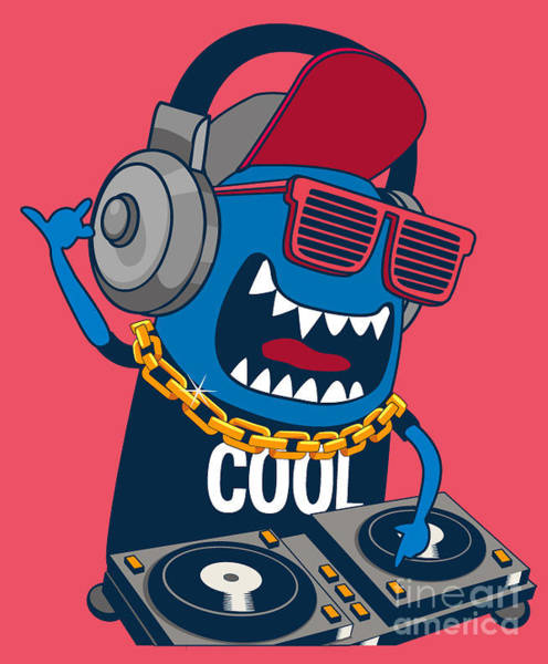 Wall Art - Digital Art - Monster Dj, Party, Music by Braingraph
