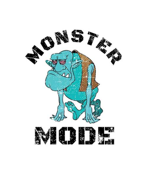 Powerlifting Digital Art - Monster Mode by Chuck Basford
