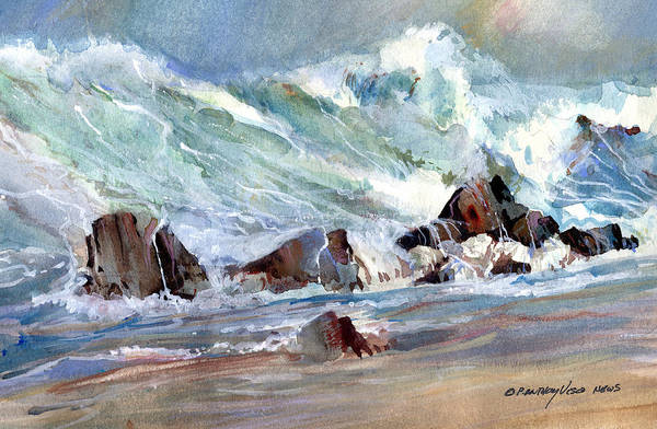 Wave Breaking Painting - Monster Waves by P Anthony Visco