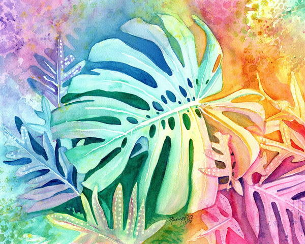 Painting - Monstera by Marionette Taboniar
