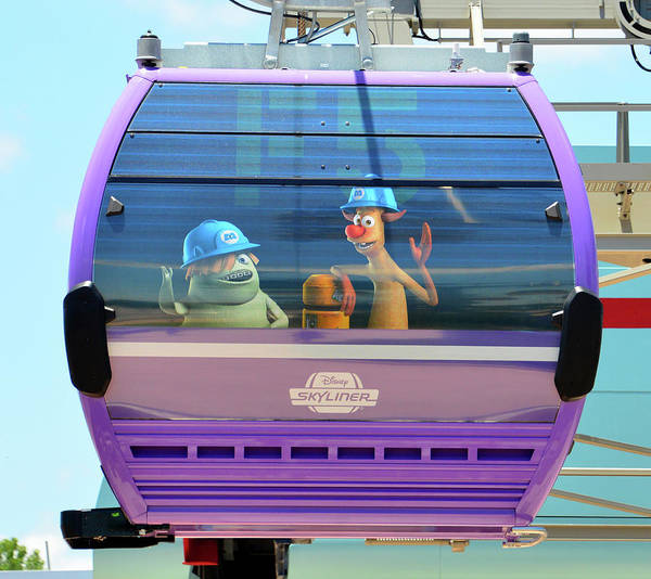 Wall Art - Photograph - Monsters Inc Skyliner by David Lee Thompson