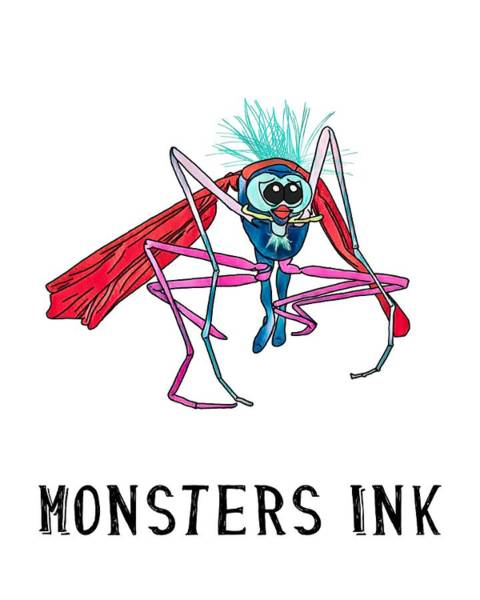 Wall Art - Digital Art - Monsters Ink by John Haldane
