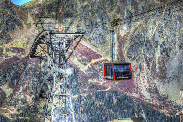 Wall Art - Photograph - Mont Blanc Cable Car by David Pyatt