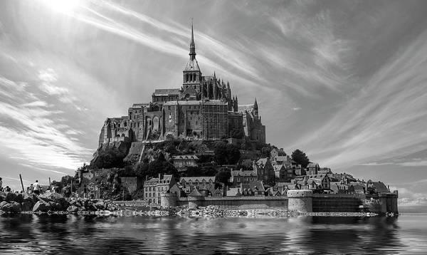 Wall Art - Photograph - Mont Saint Michel Abbey - Normandy by Daniel Hagerman