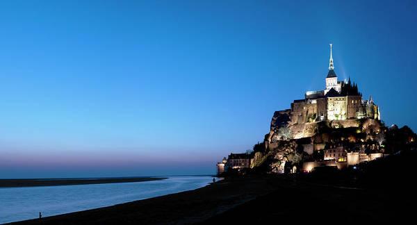 Photograph - Mont Saint-michel In Blue Hour by Paul Biris