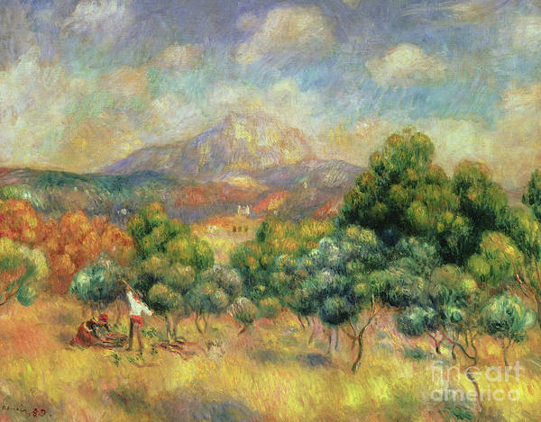 Wall Art - Painting - Mont Sainte-victoire, 1889 by Pierre Auguste Renoir