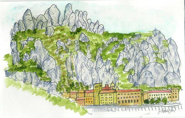 Painting - Mont Serrat, Spain by Judy Robinson
