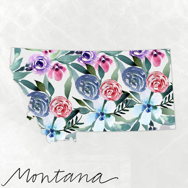 Wall Art - Mixed Media - Montana by Katie Doucette