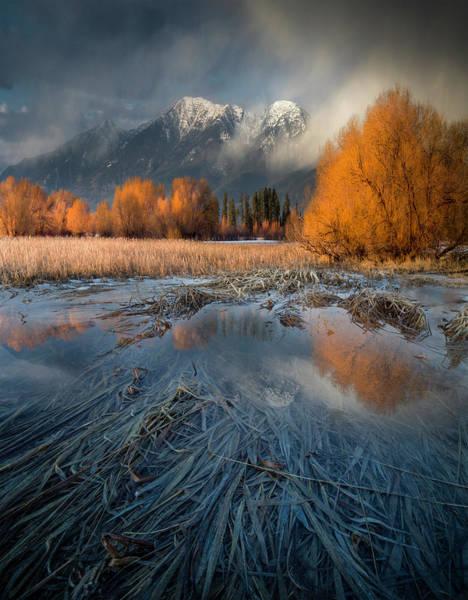 Montana Spring Storm / Bigfork, Montana Art Print