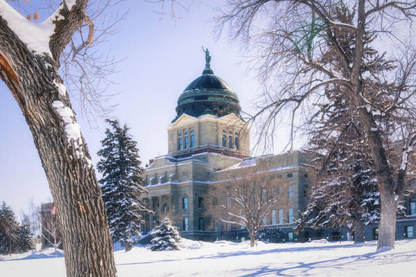 Photograph - Montana State Capitol Building In Helena, Montana by Tatiana Travelways