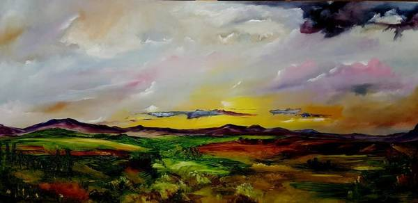 Painting - Montana Summer Storms        5519 by Cheryl Nancy Ann Gordon