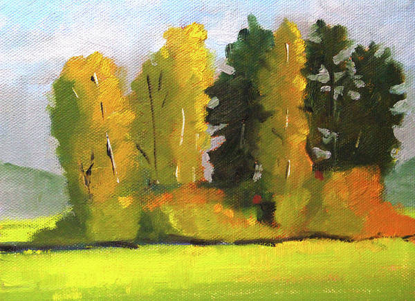 Wall Art - Painting - Montana Trees by Nancy Merkle