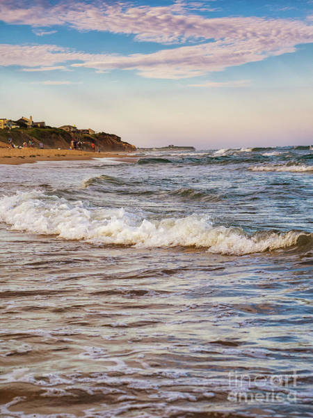 Photograph - Montauk Beach Waves At Sunset by Alissa Beth Photography