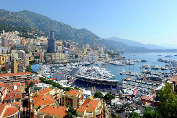 French Riviera Photograph - Monte Carlo Harbor Yachts Boats Monaco by Dennis Macdonald