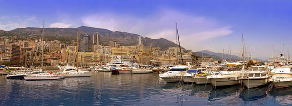 Luxury Yacht Photograph - Monte Carlo by Images Etc Ltd