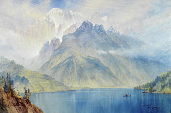 Wall Art - Painting - Monte Civetta From Lake Alleghe, Ital by Elijah Walton