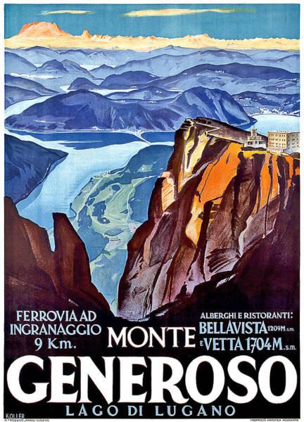 Wall Art - Digital Art - Monte Generoso by Long Shot