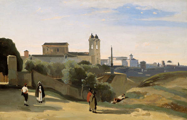 Wall Art - Painting - Monte Pincio, Rome by Jean-Baptiste-Camille Corot