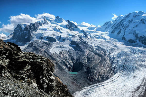 Wall Art - Photograph - Monte Rosa Massif And Glacier by Phyllis Taylor