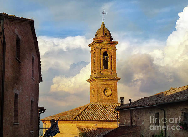 Wall Art - Photograph - Montepulciano Bell Tower by Norma Brandsberg