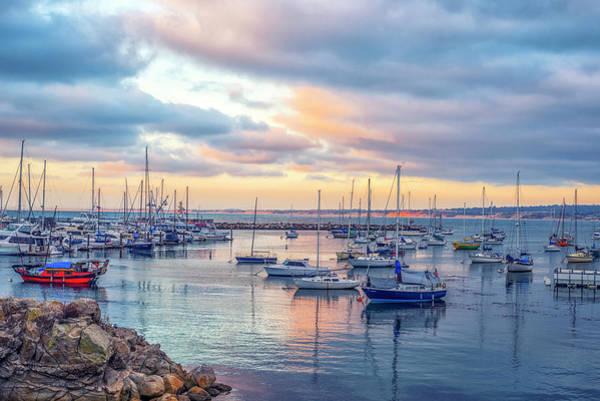 Monterey Bay Photograph - Monterey Pastel Sunset by Joseph S Giacalone
