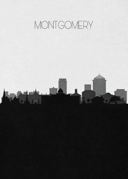 Wall Art - Digital Art - Montgomery Cityscape Art by Inspirowl Design
