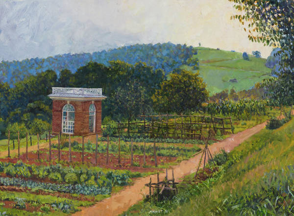 Wall Art - Painting - Monticello Garden Pavilion, Montalto by Edward Thomas