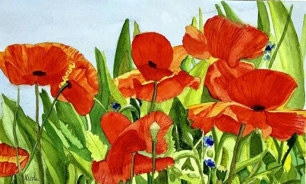 Monticello Painting - Monticello Poppies by Nicole Curreri