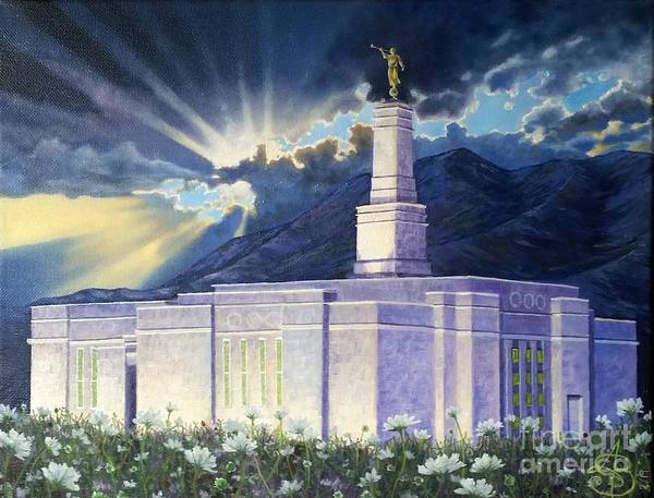 Monticello Painting - Monticello Temple by Amber Whiting Bradley