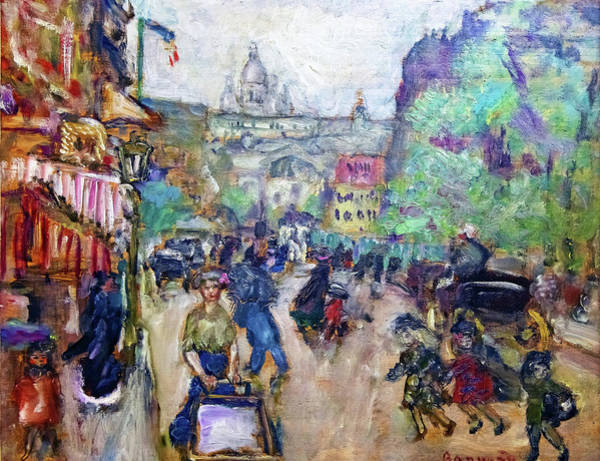 Avenue Painting - Montmartre - Digital Remastered Edition by Pierre Bonnard