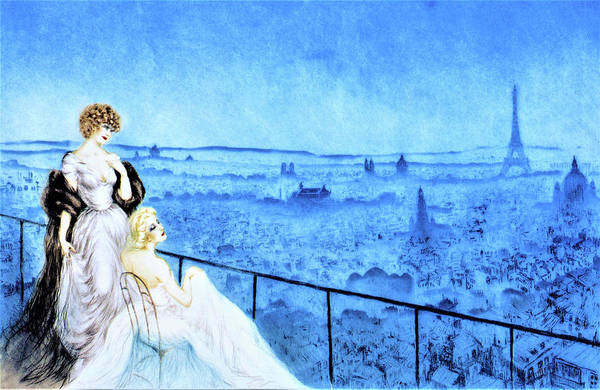 Wall Art - Painting - Montmartre Landscape - Digital Remastered Edition by Louis Icart