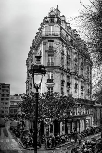 Wall Art - Photograph - Montmartre Paris Architecture In Black And White by Georgia Fowler