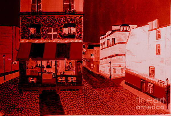 Wall Art - Painting - Montmatre 3 Am by Bill OConnor