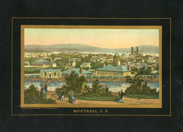 Old Town Digital Art - Montreal 1850 To 1899 Birds Eye View by Historic Map Works Llc