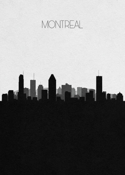 Montreal Neighborhoods Wall Art - Drawing - Montreal Cityscape Art by Inspirowl Design