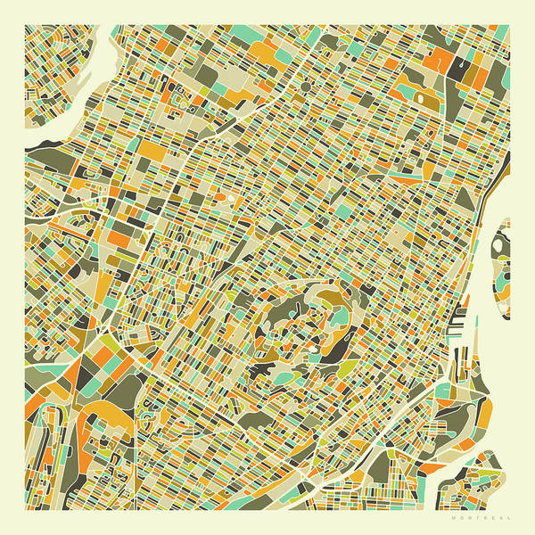 Montreal Wall Art - Digital Art - Montreal Map 1 by Jazzberry Blue