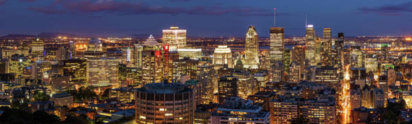 Photograph - Montreal Panorama At Night by Pierre Leclerc Photography