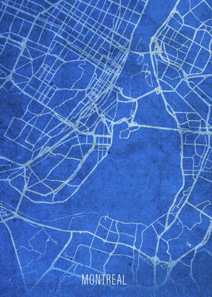 Wall Art - Mixed Media - Montreal Quebec City Street Map Blueprints by Design Turnpike