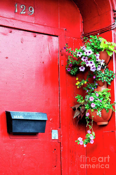 Old Montreal Photograph - Montreal Red Door by John Rizzuto