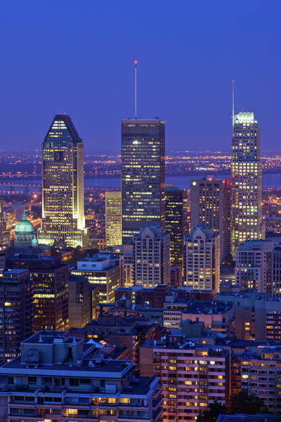 Quebec City Photograph - Montreal Skyline, Canada by Benedek