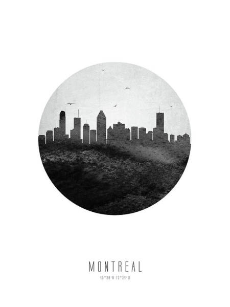 Wall Art - Digital Art - Montreal Skyline Caqcmo04 by Aged Pixel