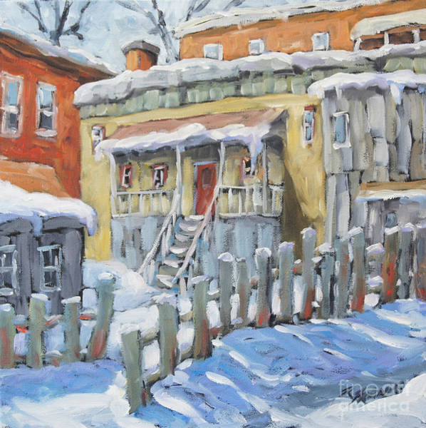 Wall Art - Painting - Montreal Winter Shed By Richard Pranke by Richard T Pranke