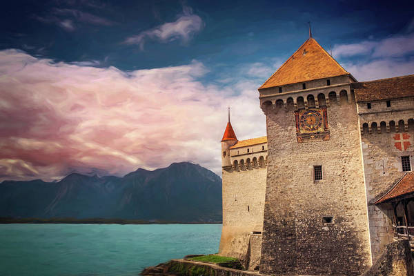 Lemans Wall Art - Photograph - Montreux Switzerland Chillon Castle  by Carol Japp